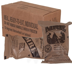 MRE's, Meals Ready to Eat.