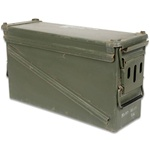 40mm Ammo Can Original U.S. Military, Used Good Condition, 17x5.5x9.5""