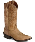 Justin Stampede Collection Mens Tan Puma Traditional Toe Western Boots