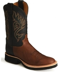 Justin Tekno Crepe Cowboy Boots COFFEE WESTERNER