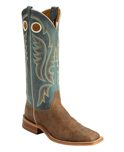 Justin Bent Rail Old Map American Cowboy Boots Square Toe