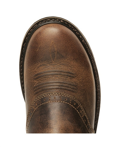 Justin Stampede Waxed Brown Saddle Waterproof Work Boots