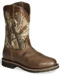 Justin Stampede Camo Waterproof Work Boot - Round Toe