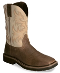 Justin® Original Workboots™  Ivory Square Toe Stampede Soft Toe