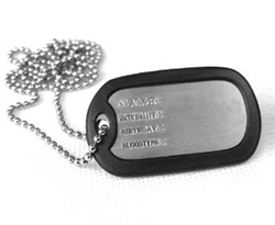 Single Dog Tags