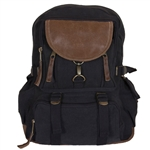 Retro Parisian City Daypack  BLACK