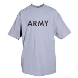 Army (Logo Back) - Heather Grey T-shirt