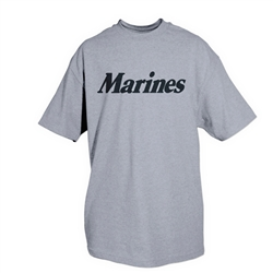 Marines (Logo Back) - Heather Grey T-shirt