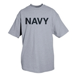 Navy (Logo Back) - Heather Grey T-shirt