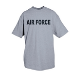 Air Force (Logo Back) - Heather Grey T-shirt