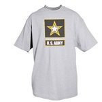 Army - Heather Grey with reflective black imprints w/logo T-shirt
