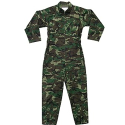 Air Force Zippered Coverall -- Mil-Spec  Woodland Camo