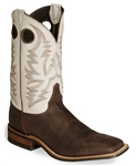 Justin Bent Rail ARIZONA CAFE BURNISHED COW- Square Toe