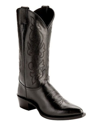 Justin Black Corona Cowboy Boots