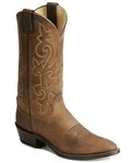 Justin Bay Apache Leather Cowboy Boots - Medium Toe