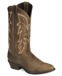 Justin Bay Apache BROWN Basic Western Cowboy Boots - Medium
