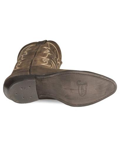 b818bcba28e Justin Bay Apache BROWN Basic Western Cowboy Boots - Medium Toe