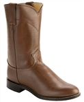 Justin Classic Roper Boots TAN KIDDIE Round Toe