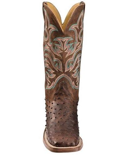 de6f24ff84c Justin Men s AQHA ANTIQUE SADDLE Full Quill Ostrich Cowboy Boots Square