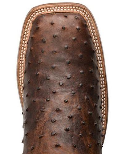 e0779ac23f4 Justin Men's AQHA ANTIQUE SADDLE Full Quill Ostrich Cowboy Boot