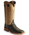 Justin Bent Rail BLACK BURNISHED CALF Cowboy Boots