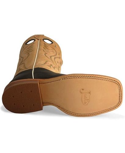 07376cca86dd Justin Bent Rail BLACK BURNISHED CALF Cowboy Boots