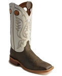 Justin Men's Chocolate Bisonte Boot - Square Toe