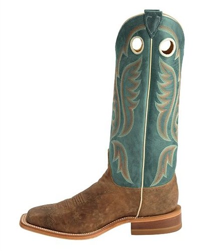 90bf91bff Justin Bent Rail Old Map American Cowboy Boots - Square Toe
