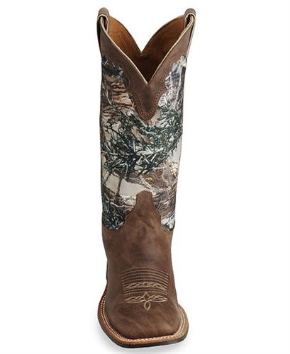 Justin Bent Rail Boots Camouflage Cowboy Boots