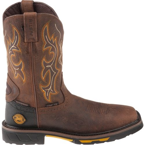 92c31072be5 Justin Hybred Waterproof Pull-On Work Boots - Composition Toe