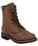 "Justin Stampede 8"" SUNSET COWHIDE WATERPROOF STEEL TOE"