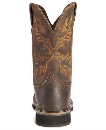 416f274178b Justin Original Work Boots® Stampede™ Mens Rugged Brown Steel Square Toe  Work Boot