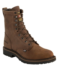 "Justin Wyoming Waterproof 8"" Lace-Up Work Boots - Round Toe"