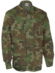 4-Pocket BDU Coats - Woodland Camo