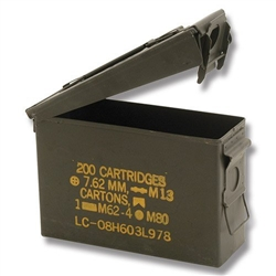 Military Surplus .30 Caliber Ammo Can